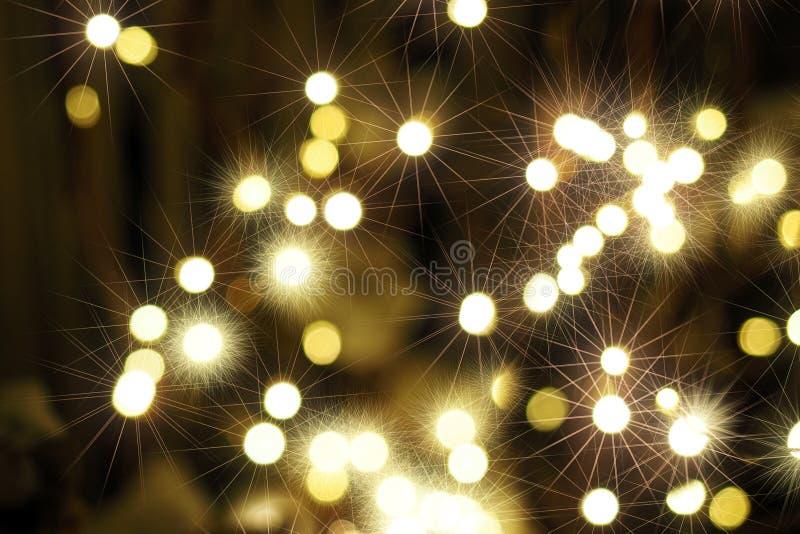 Foto con fondo vago estratto Effetto vago, colori luminosi Feste, natale, nuovo anno fotografia stock