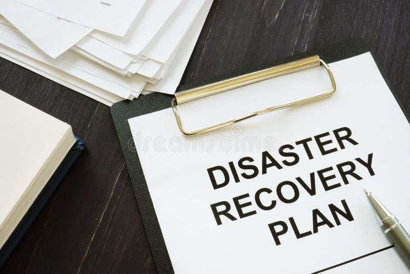 Foto conceptual con texto impreso Plan de recuperación ante desastres foto de archivo libre de regalías