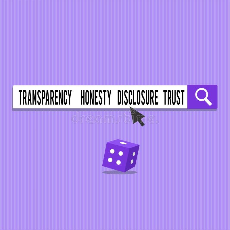 Foto conceptual del negocio de confianza del acceso de la honradez de la transparencia de la demostración de la escritura de la m libre illustration