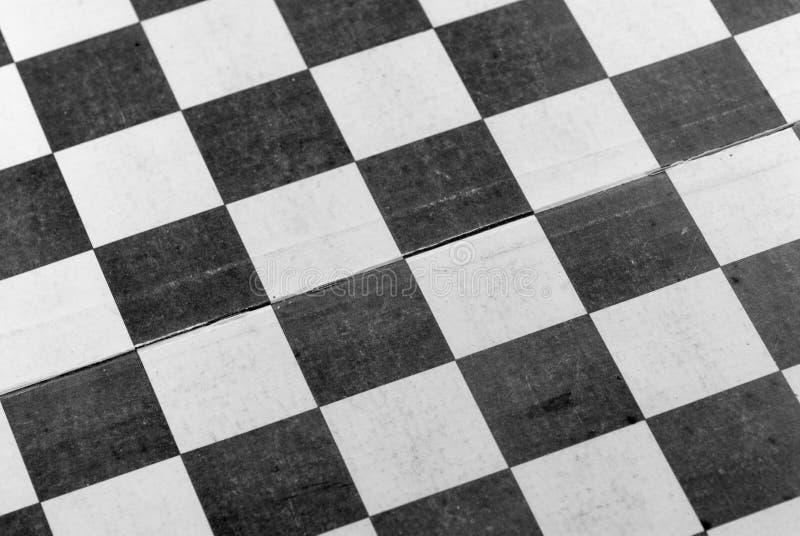 Foto conceptual usada do sumário vazio do tabuleiro de xadrez foto de stock