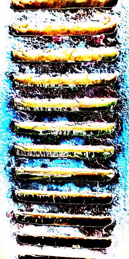 Foto conservada em estoque abstrata da textura da janela fotografia de stock royalty free