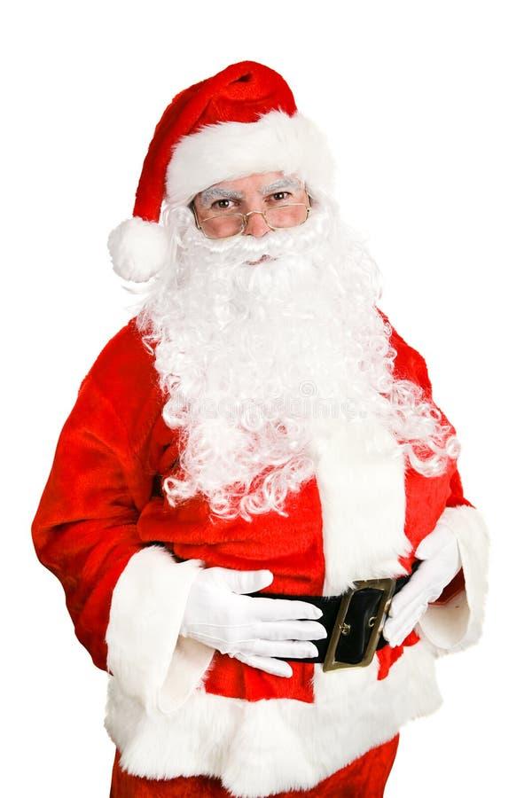 Foto conservada em estoque de Papai Noel amigável fotos de stock