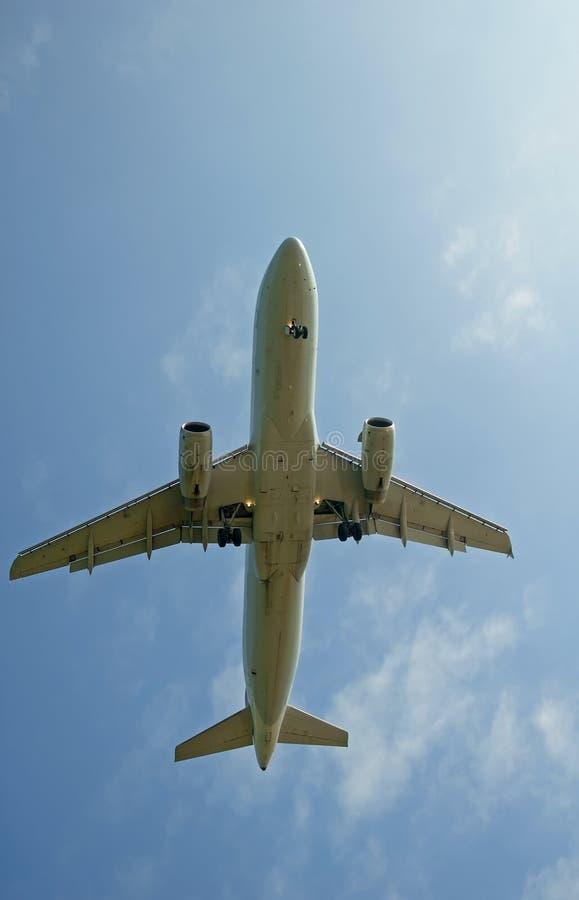 Foto conservada em estoque de um avião foto de stock royalty free