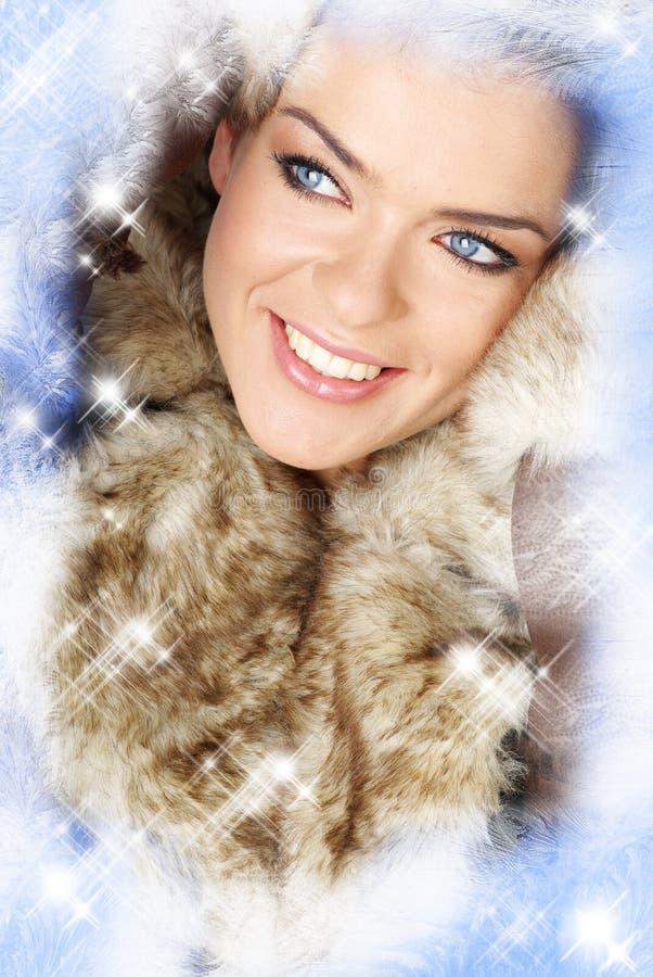 Foto creativa da mulher do inverno imagem de stock