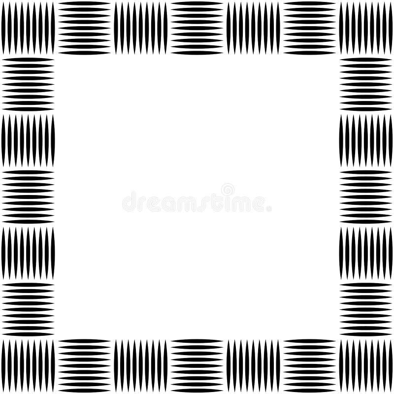 Foto cuadrada del formato, marco con el mosaico de líneas stock de ilustración
