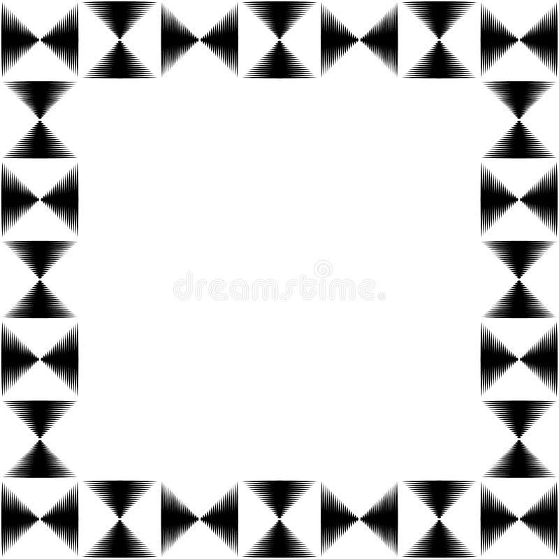 Foto cuadrada del formato, marco con el mosaico de líneas libre illustration