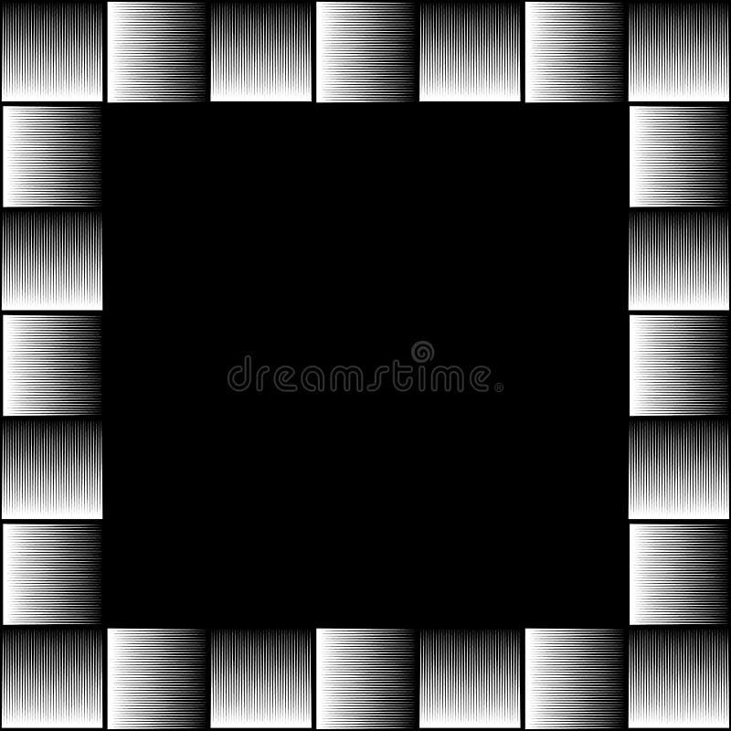 Foto cuadrada del formato, marco con el mosaico de líneas ilustración del vector