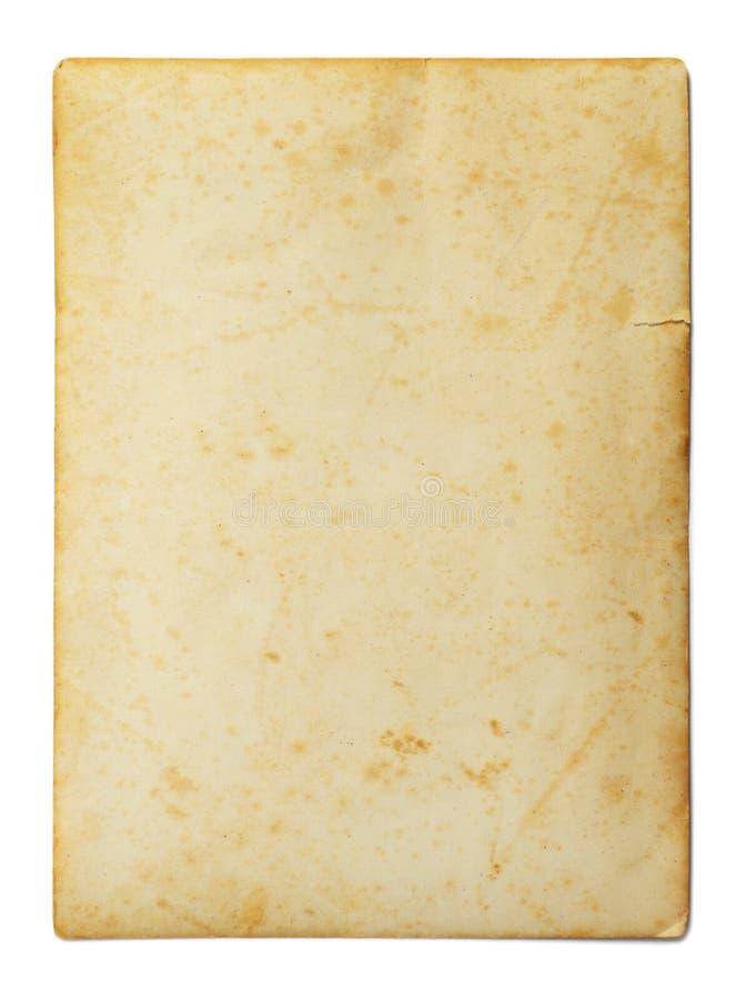 Foto d'annata isolata su bianco fotografia stock libera da diritti