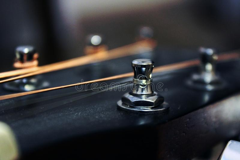 Foto da cabeça da guitarra para você projeto imagens de stock royalty free