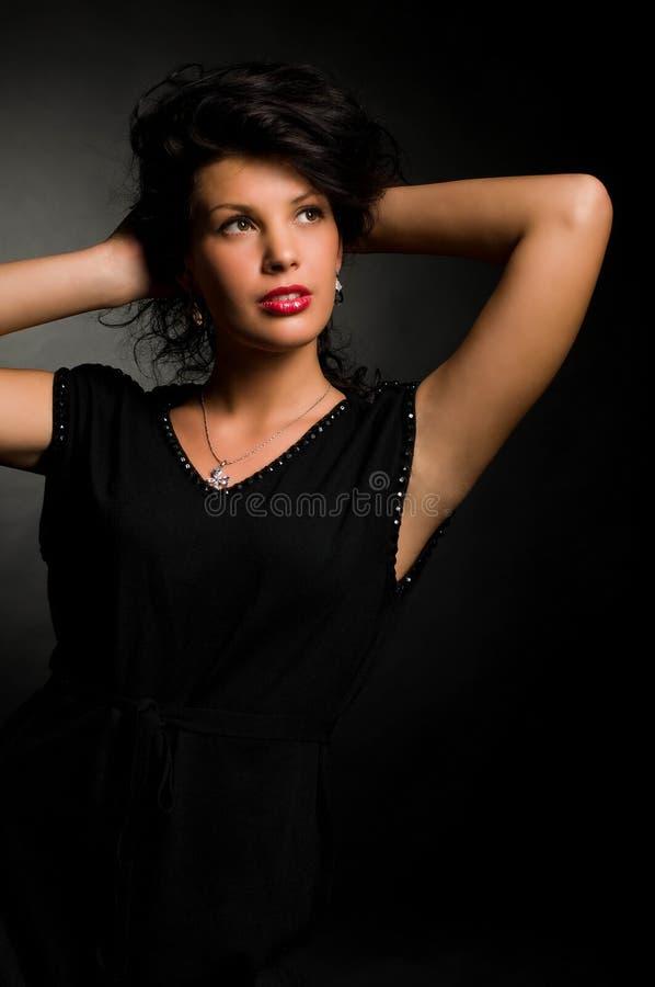 Foto da forma da arte da mulher nova foto de stock