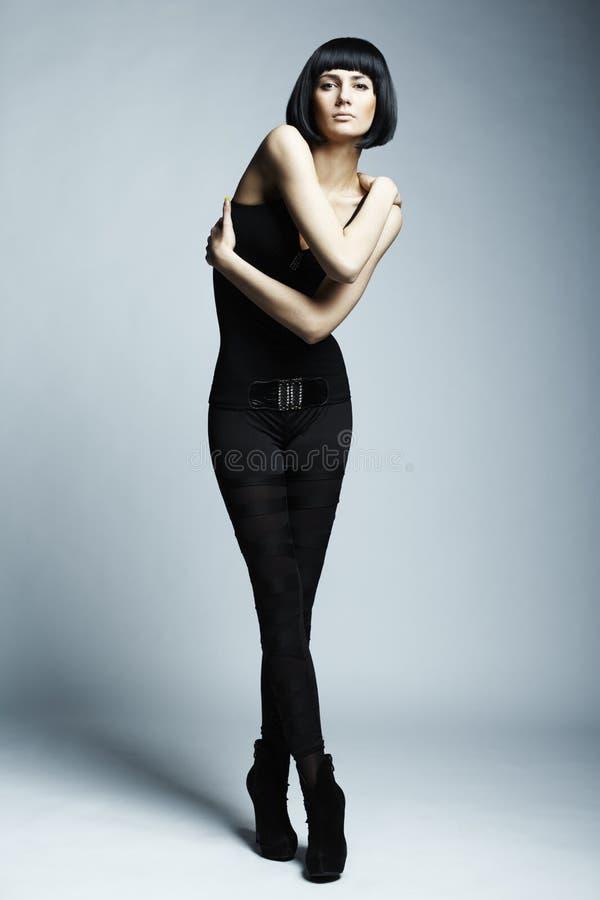 Foto da forma da mulher long-legged nova fotografia de stock royalty free