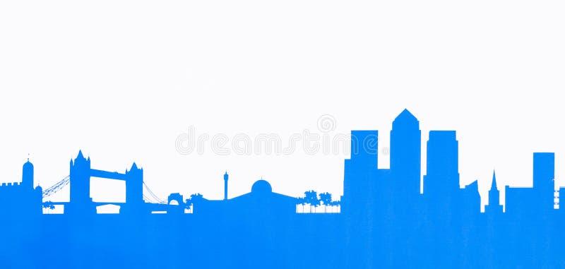 Foto da ilustração das aldeolas da torre da skyline de Londres ilustração royalty free