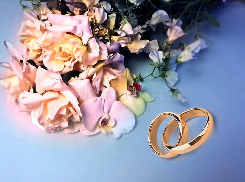 Foto da ilustração do cartão de cumprimentos do ramalhete das rosas do fundo do casamento do dia de Valentine Women bonito das ro fotos de stock