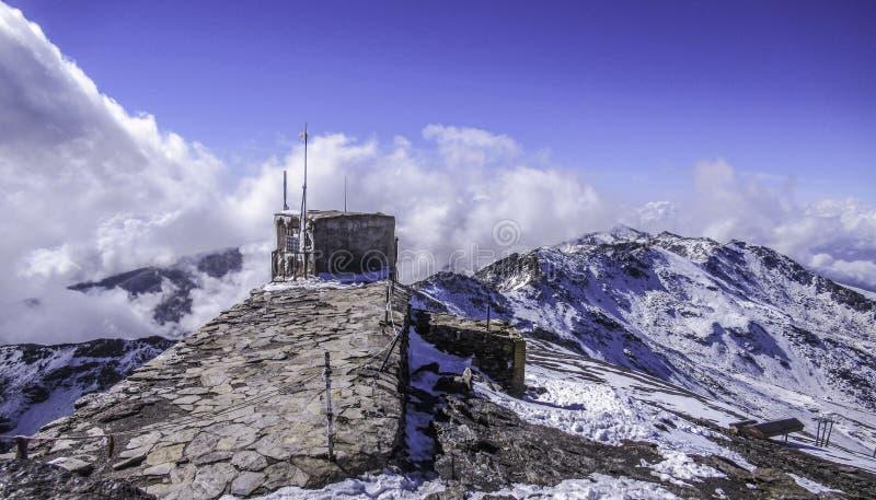 Foto da Pico de Veleta Spain Mulhacén, Sierra Nevada, Andalusia, Spagna fotografie stock