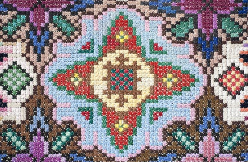 Foto da superfície do tapete feito a mão imagem de stock