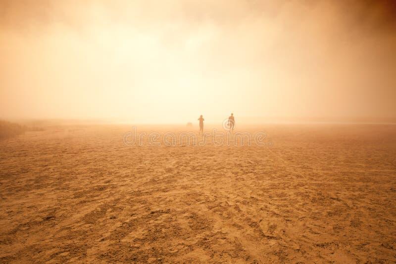 Foto da tempestade de areia imagem de stock royalty free