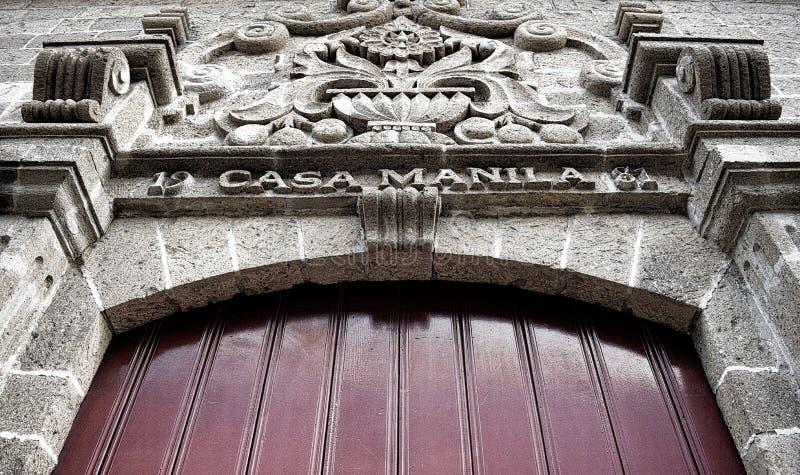 Foto dal basso angolo di Casa Manila fotografia stock