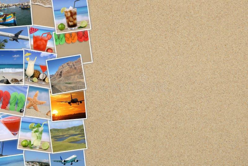 Foto dalle vacanze estive, dalla spiaggia, dal viaggio, dal mare, festa e fotografie stock libere da diritti