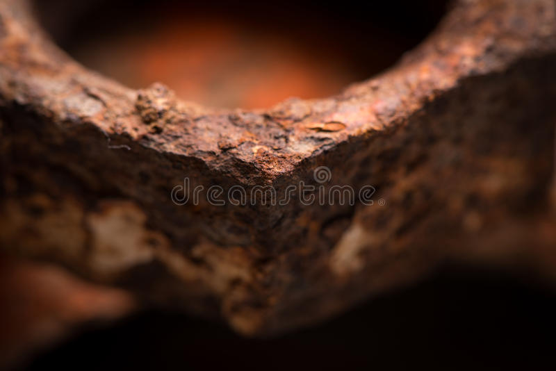 Foto de aço velha oxidada do close up fotografia de stock royalty free