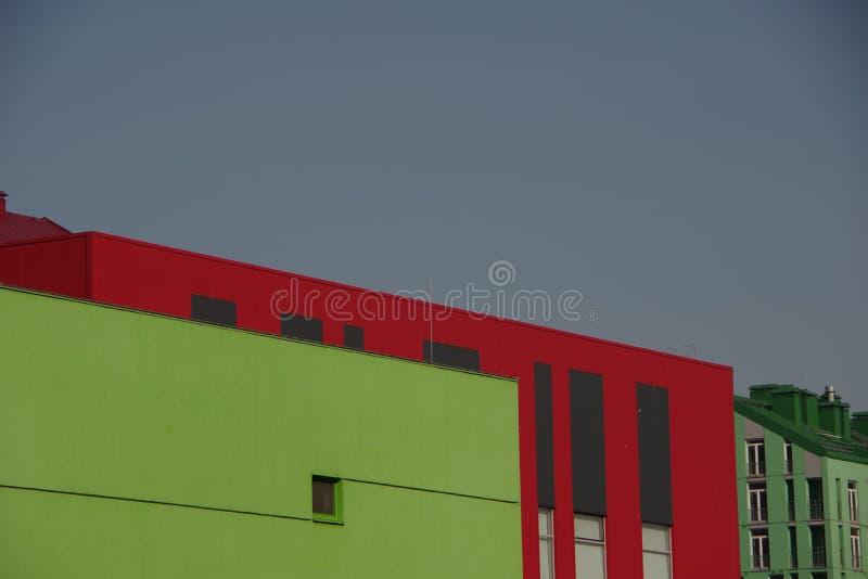 Foto de casas coloridas modernas fotografía de archivo