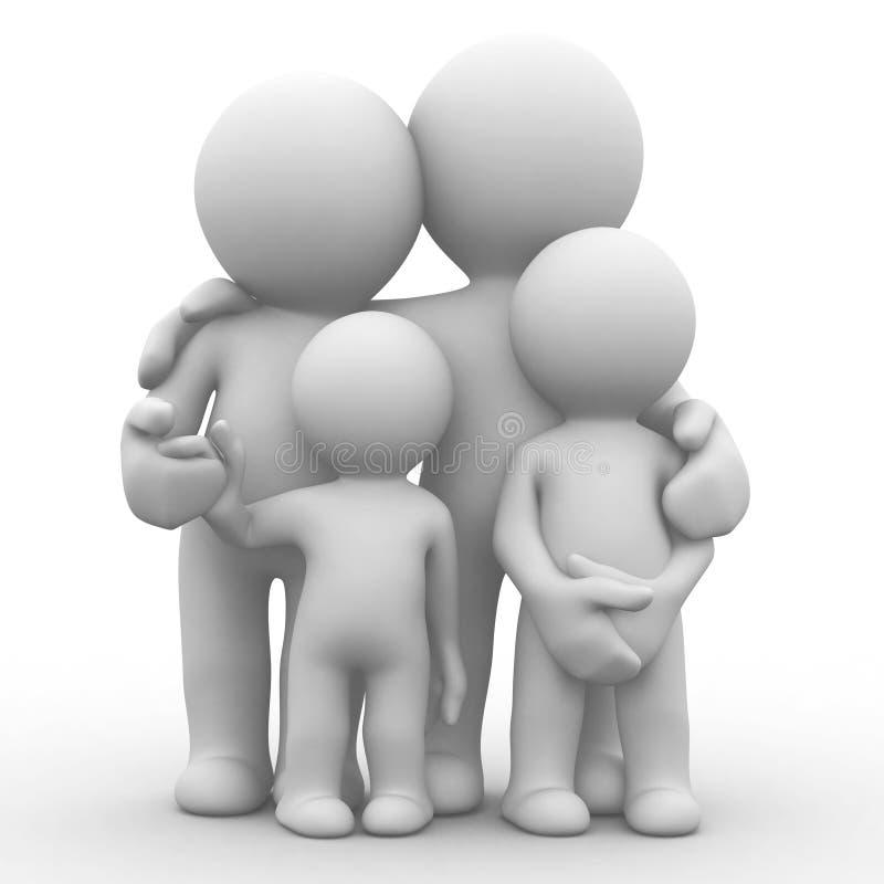 Foto de família ilustração do vetor