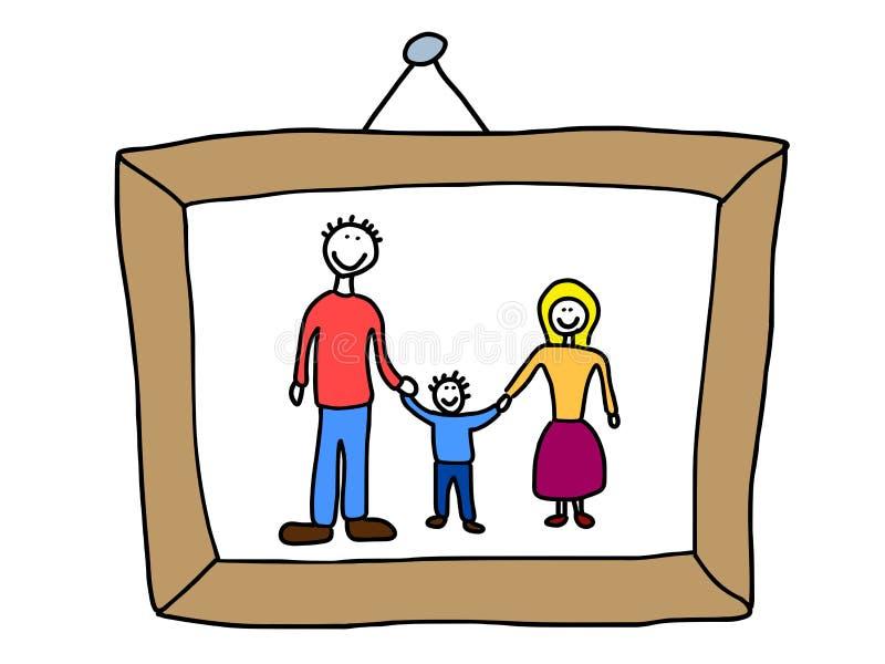 Foto de família ilustração stock