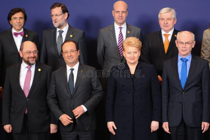 Foto de familia - Consejo Europeo fotos de archivo libres de regalías