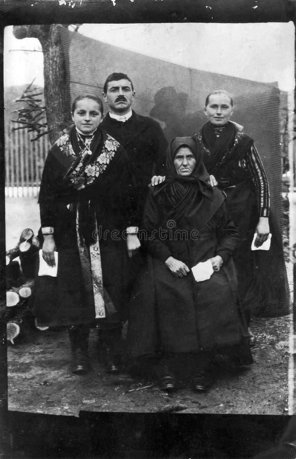 Foto de familia del vintage fotografía de archivo libre de regalías
