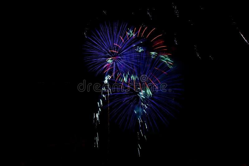 Foto de fuegos artificiales fotografía de archivo