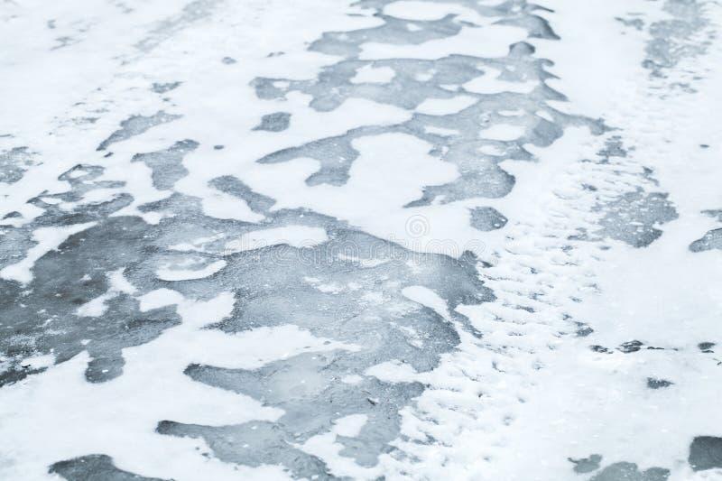 Foto de fundo do transporte de inverno imagens de stock