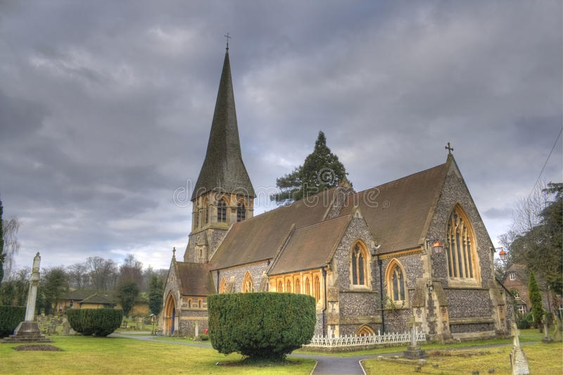 Foto de HDR de la iglesia vieja en Inglaterra fotos de archivo