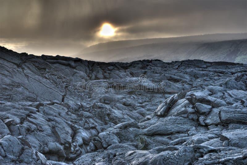 Foto de HDR do campo de lava foto de stock royalty free