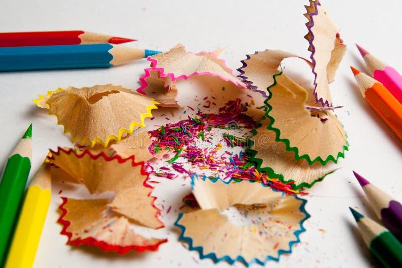 Foto de lápices coloreados previstos foto de archivo libre de regalías