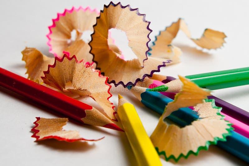 Foto de lápis coloridos de planeamento fotos de stock royalty free