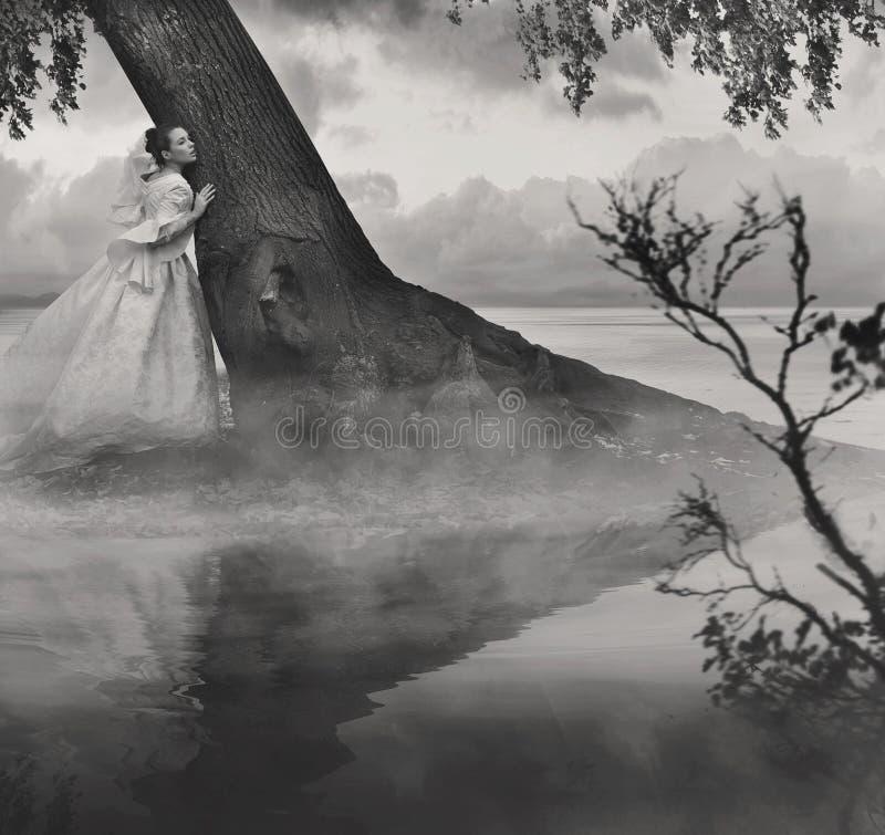 Foto de la bella arte de una mujer imagenes de archivo