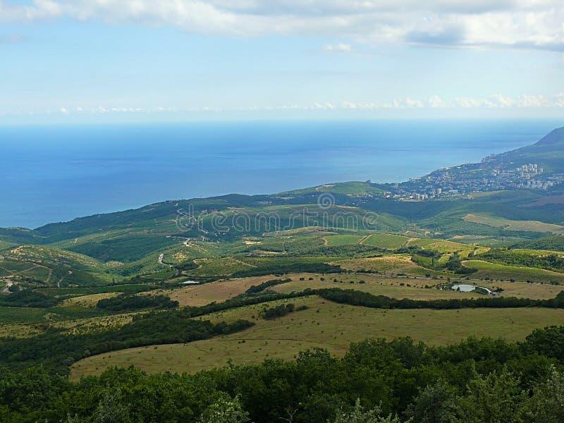 Foto de la ciudad en la Crimea fotos de archivo