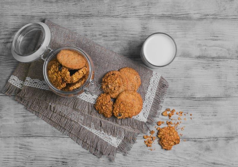 Foto de la comida de las galletas de la avena imagen de archivo