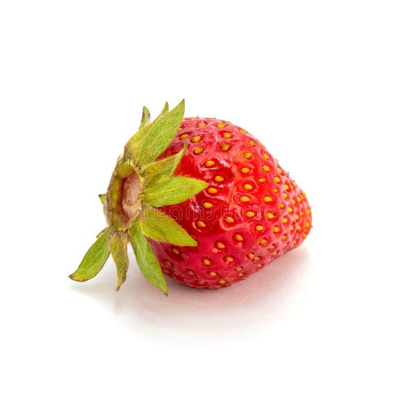 Foto de la fresa roja aislada en el fondo blanco foto de archivo