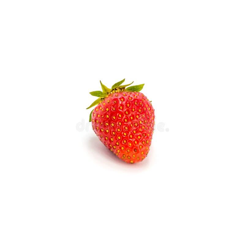 Foto de la fresa roja aislada en el fondo blanco imágenes de archivo libres de regalías