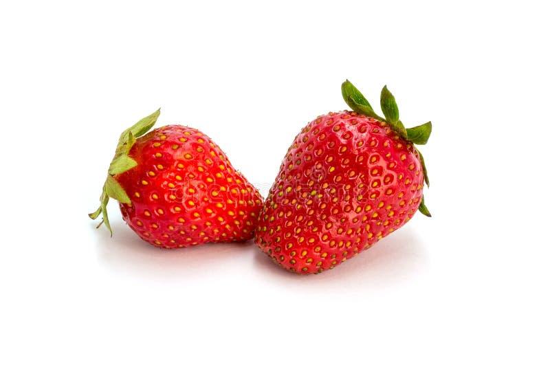 Foto de la fresa roja aislada en el fondo blanco foto de archivo libre de regalías