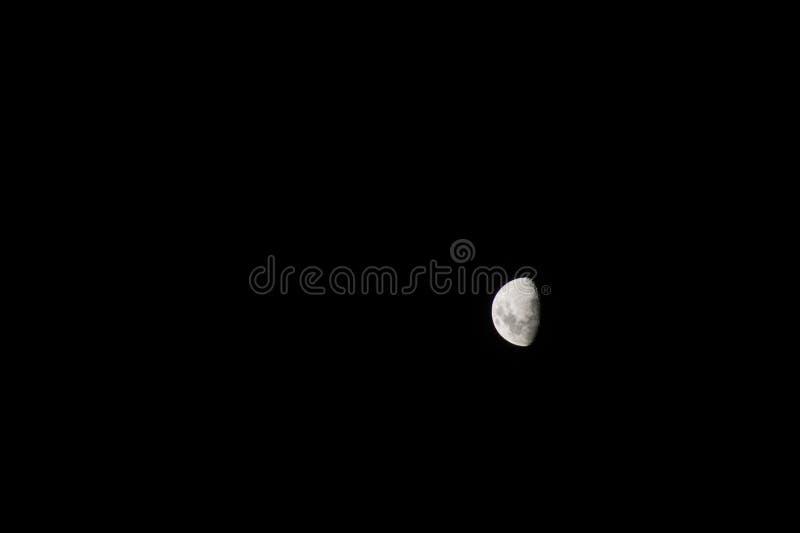 Foto de la noche de la luna foto de archivo libre de regalías