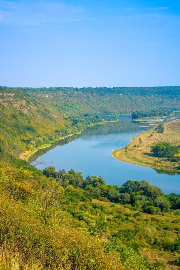 Foto de la opinión aérea del barranco magnífico del río imagen de archivo libre de regalías