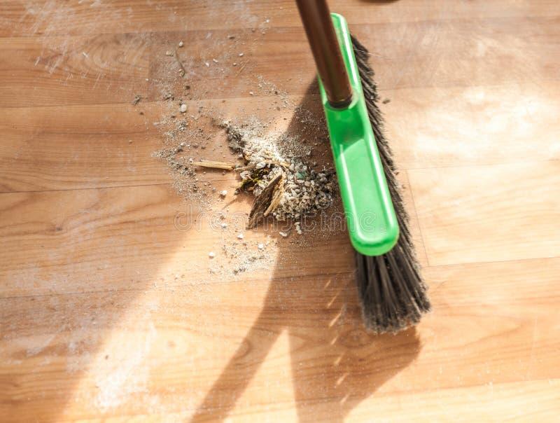Foto de la pila de la limpieza de cepillo de ruina foto de archivo