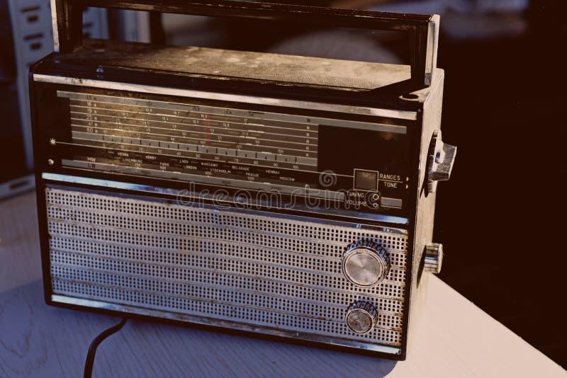 Foto de la radio retra fotos de archivo libres de regalías