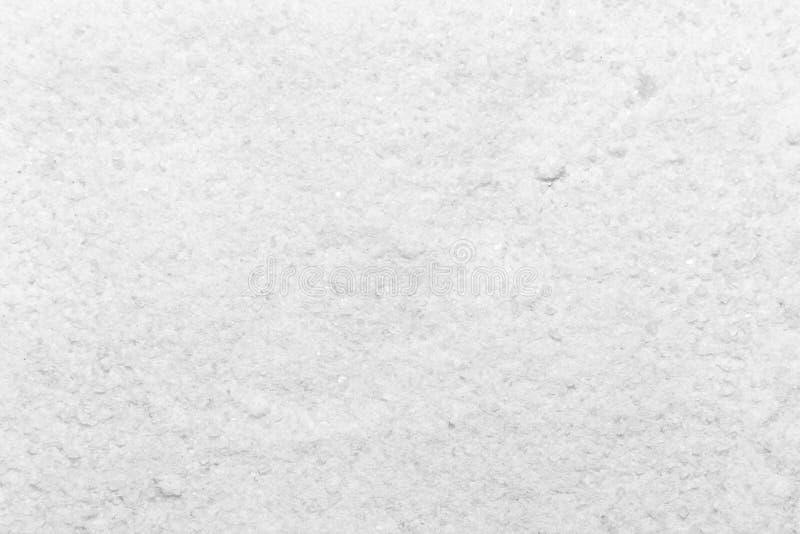 Foto de la textura blanca del primer de la sal, fondo imágenes de archivo libres de regalías