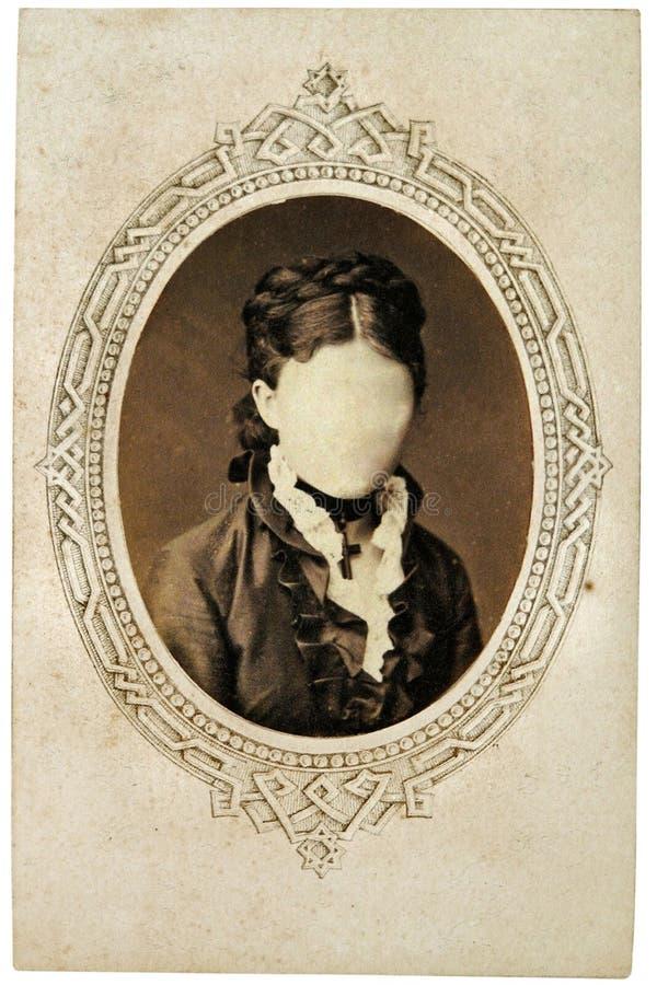 Foto de la vendimia de la muchacha imagen de archivo libre de regalías