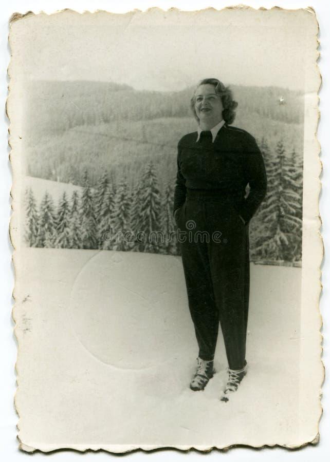 Foto de la vendimia de la mujer imagen de archivo libre de regalías