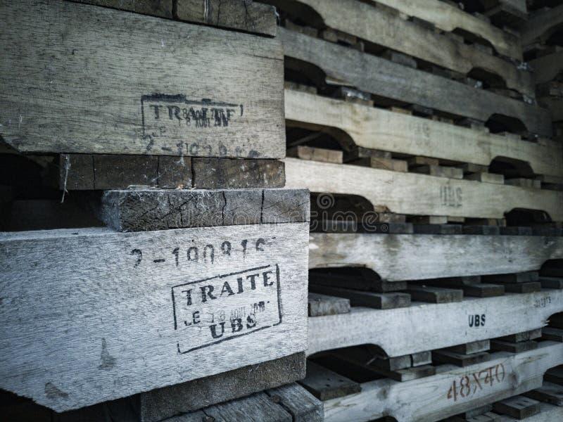 Foto de páletes de madeira foto de stock royalty free