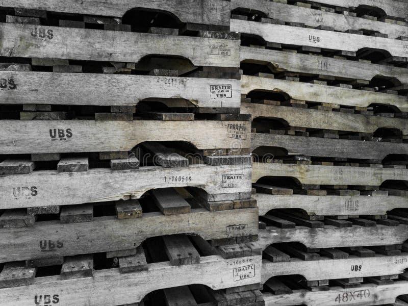 Foto de páletes de madeira foto de stock