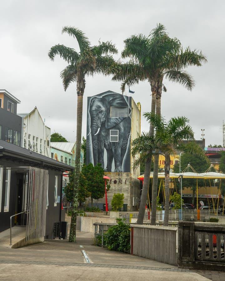 Foto de Plymouth novo, Nova Zelândia da rua imagens de stock royalty free